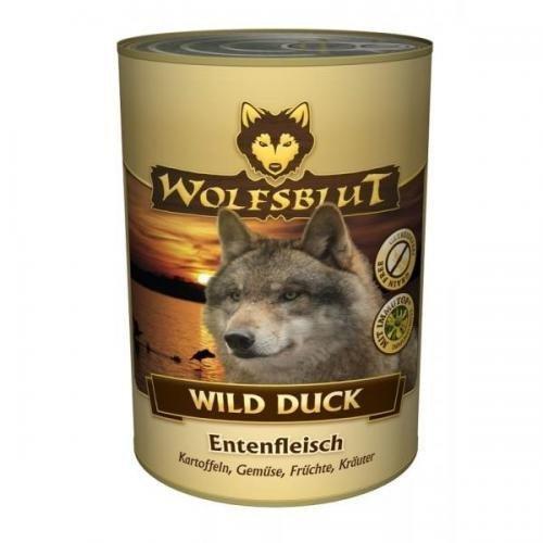 12 x Wolfsblut Dose Wild Duck 395 g, Nassfutter, Hundefutter