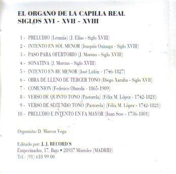 Amazon.com: El Organo En La Capilla Real (Siglos XVI, XVII ...