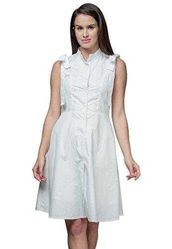 Origami Print Dress - Plains and Prints Womens Elena Sleeveless Dress Large Offwhite