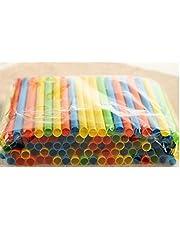 Drinkrietjes apart verpakt Kleurrijke Pipe 8 duim lang en Aiameter is 1/8 inch Drinking Supplies 20cm willekeurige kleur 50st
