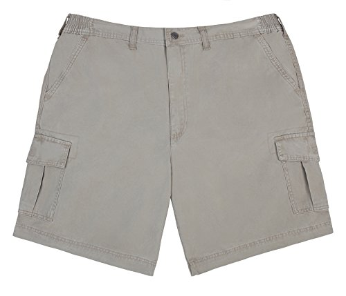 - Brentwood Sportswear Big Men's Cargo Shorts with Expandable Stretch Comfort Waist - Khaki (44