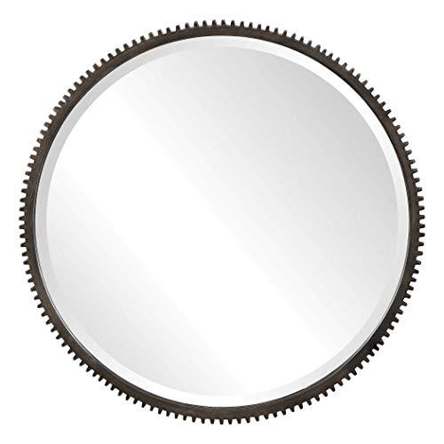 Uttermost Round Gear Wall Mirror