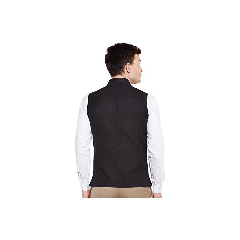 41wUE3kOfeL. SS768  - WINTAGE Men's Linen Blend Grandad Nehru Jacket Vest Waistcoat