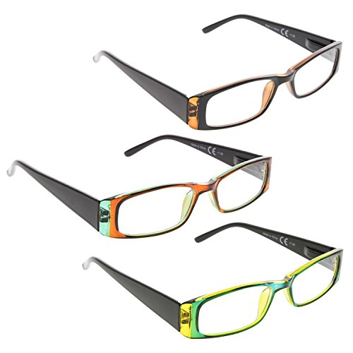c56fdc67b361 READING GLASSES 3 Pack Classic Readers for Women