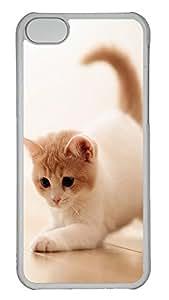 iPhone 5C Case Cute Cat Pics 03 PC iPhone 5C Case Cover Transparent