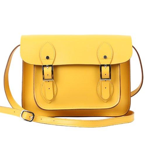 Yasmin Bags , Damen Satchel-Tasche Gelb Yellow 11