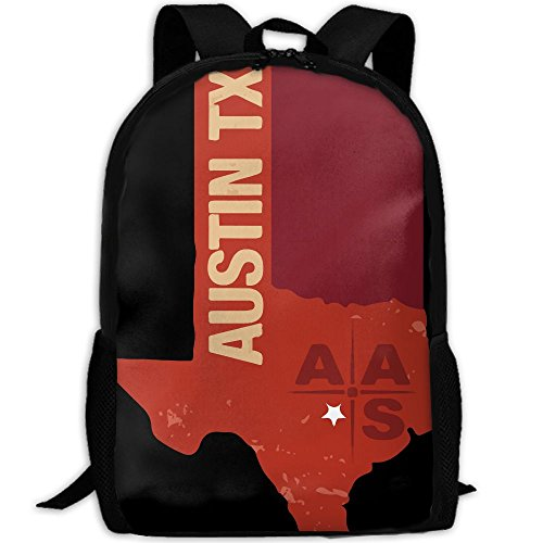 Austin TX Star Map Interest Print Custom Unique Casual Backpack School Bag Travel Daypack - Austin Sunglasses