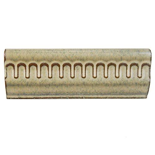 (Merola Tile Essence Azure 2 in. x 6 in. Multi Ceramic Chair Rail Wall Tile)