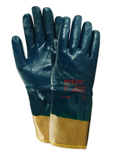 Ansell Gloves Cotton (Ansell 4740910 Hylite 47-409 Nitrile Coated Gloves, 12
