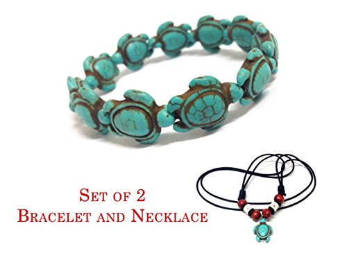 Bracelet And Necklace Turquoise Handmade Sea Turtles Bracelet - Hawaiian Sea Turtle Necklace