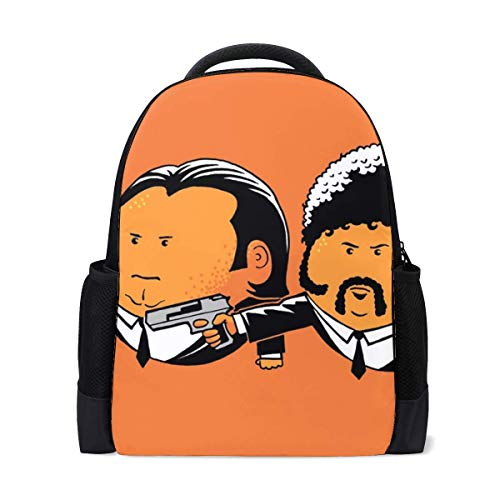 Pulp Fiction John Travolta Vincent Vega Samuel L Jackson Jules Winnfield Bookbag School Backpack Luggage Travel Sport Bag