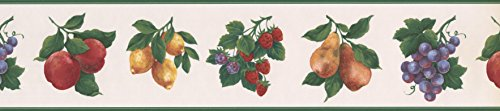Green White Fruit Wallpaper Border 30342 GB