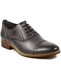 MC602 Men's Lace Up Cap Toe Perforated Classic Dress Shoe
