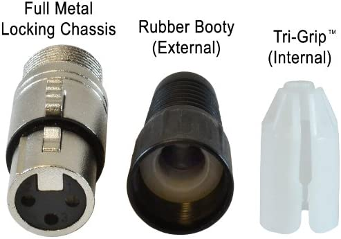 GLS Audio XLR Female Plugs Connectors XLR-F Plug 20 Pack