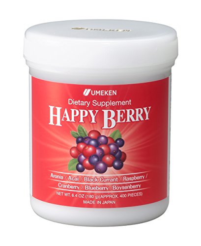 Umeken Happy Berry- With Aronia, Acai, Black Currant, Raspberry, Cranberry, Blueberry, Boysenberry. Chewable. About a 2 month - Valley Plaza