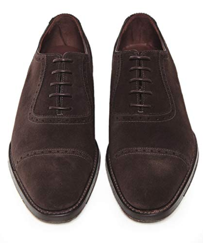 Oxford Suede Brown Fleece Men Loake Dark Shoes qpI7xwF
