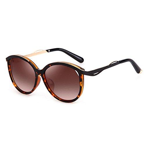 UV400 Protección de sol Retro Color Wayfarer de con Pink 55mm polarizadas Mujeres Tortoiseshell Las Estilo Gafas wUAaqExTT