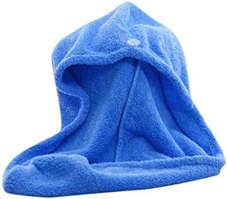 Vell/ón de Coral Absorbentes de Agua Pelo Seco,Se/ñora /Útil Pelo Seco Sombreros Maquillaje (Azul) Weimay SPA Toallas de Ba/ño Cabello Turbante de Secado r/ápido para Ducha