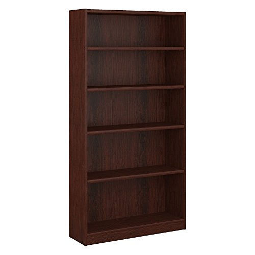 (Bush Furniture Universal 5 Shelf Bookcase in Vogue Cherry)