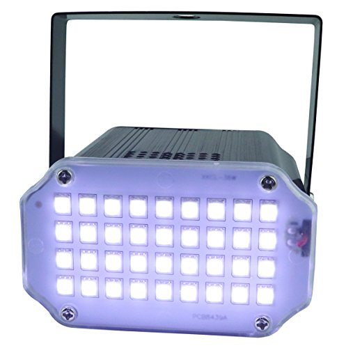 Strobe Lights, Latta Alvor Stage Light 36 LED Mini Disco LIghts Flash Strobe Lighting with Sound Activated and Speed Control for Party Wedding DJ Disco KTV Bars Lights -