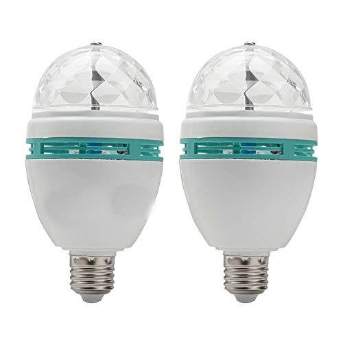 Colorful Rotating Rgb 3 Led Spot Light Bulb Lamp in US - 8