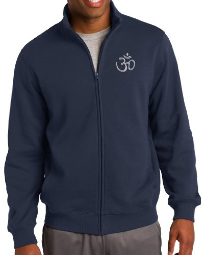 Yoga Clothing For You Mens HINDU Zippered Sweatshirt, Large Navy