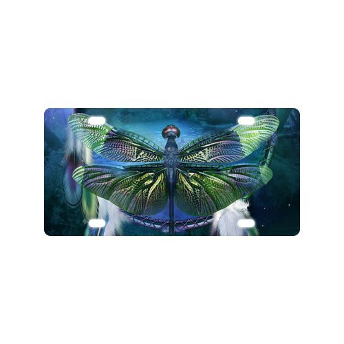 Designer License Plate - Beautiful Dragonfly - 6
