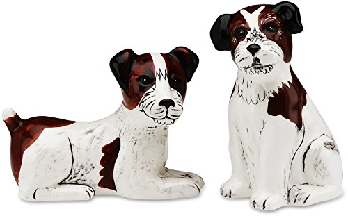 Rescue Me Now Jack Russell Dog Salt and Pepper Shaker Set by Rescue Me Now