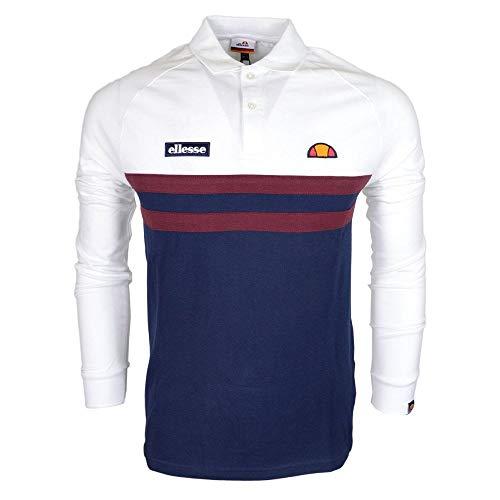 Ellesse Lovaro Long Sleeve White Rugby Top M White