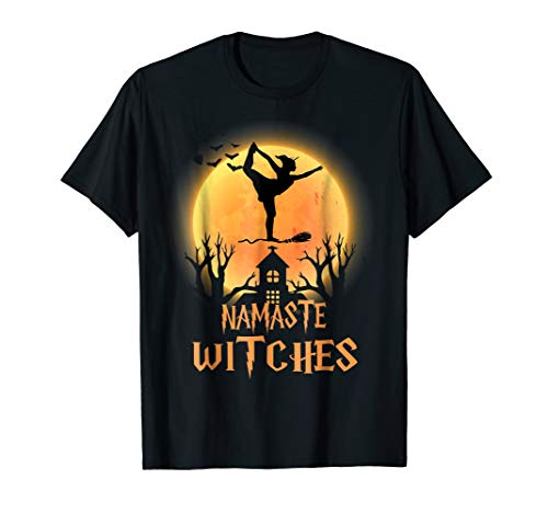 Namaste Witches T-Shirt Halloween Yoga Lover