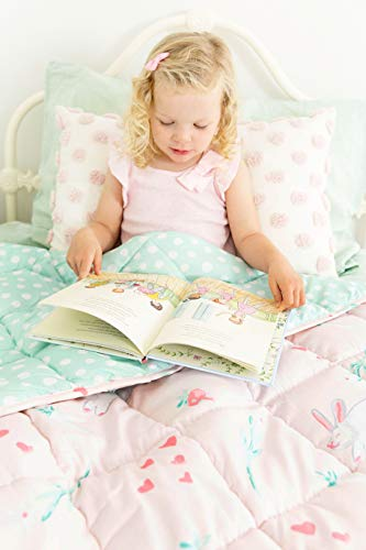 Life Tree Weighted Blanket for Kids 5 Lbs - 36x48 - Weighted Blanket for Toddler with Anxiety, Insomnia, ADHD, ASD - Kids Weighted Blanket Machine Washable - Weighted Blanket for Children - Pink
