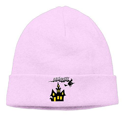 DETO Men's&Women's Halloween Patch Beanie B-boyPink Cap Hat