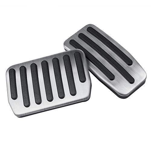 TapTes Non-Slip Performance Foot Pedal Pads Auto Aluminum Cover for M3, Brake and Accelerator Pedal Covers Car Accessories Set for Tesla Model 3
