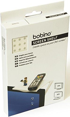 Bobino Screen Shelf Original - White - Stylish Minimalist Monitor Mounted (Off Wh Rubber)