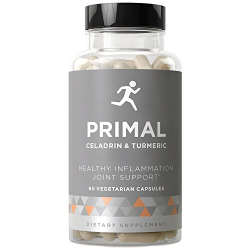 Primal Joint Support & Healthy Inflammation - Fast-Acting Supplement, Whole-Body Flexibility, Active Mobility Men & Women - Celadrin, Turmeric Curcumin, Boswellia - 60 Vegetarian Soft Capsules