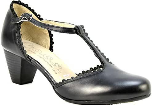 OGSwideshoes Luciana Black Extra Wide Fit Formal 3E C D Width