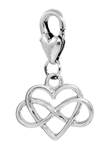 Infinity Sign Heart Everlasting Eternal Love Clip Charm for ()