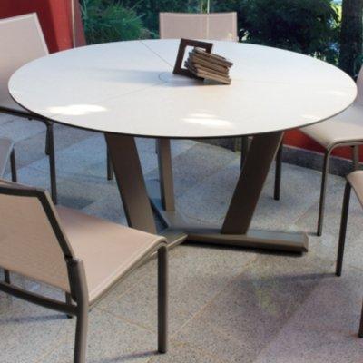Table ronde Hegoa muscade/lin, 6/8 personnes-: Amazon.fr ...