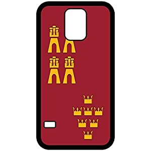 Murcia Flag Black Samsung Galaxy S5 Cell Phone Case - Cover