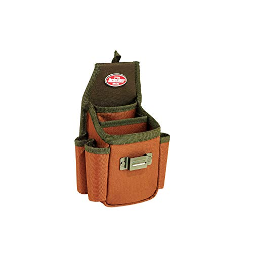 Bucket Boss Utility Plus Tool Pouch with FlapFit in Brown, 54175