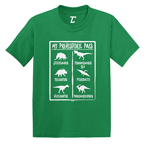 (My Prehistoric Pals - Cool Dinosaurs Infant/Toddler Cotton Jersey T-Shirt (Kelly, 5T))