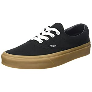Vans Era 59 Shoes 9.5 B(M) US Women/8 D(M) US Canvas Gum Black Light Gum