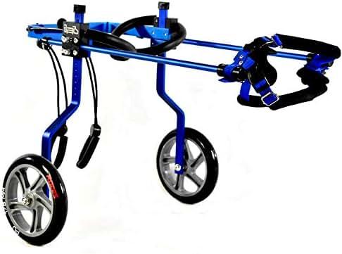 QETU Dog Wheelchair, Adjustable Dog Pet Wheelchair Hind Legs Rehabilitation, for Disability Paralyzed Pet Auxiliary Car