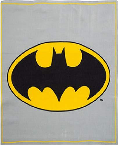Bandana Batman Logo Motif ~ Wearable Art 100% Cotton Gray with yellow stripe
