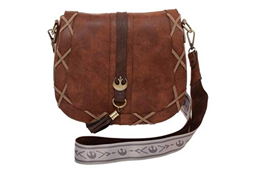 Star Wars Endor Princess Leia Inspired Brown Faux Leather Saddle Bag Purse New -
