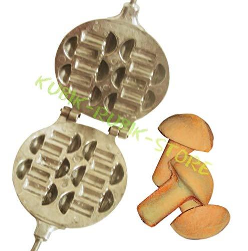 (Metal Mold - 8 Sweet Russian Oreshki Mushroom)