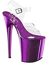 Pleaser Flamingo-808 Exotic Dancing Shoes, Super High Heels 8 Platform Sandal