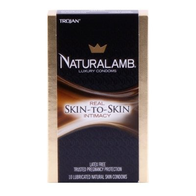 Trojan Natural Lamb Lubricated Condoms (30 Condoms) by Trojan