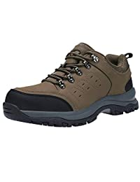 CAML Camel Crown Mens Hiking Shoes Boots Leather Walking Sneakers for Outdoor Trekking Training Casual Work