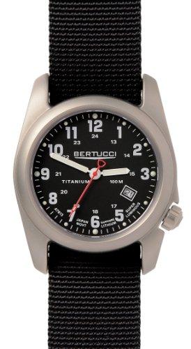 BERTUCCI A-2T Classic Field Watch Black/Ti-Black Band 12722